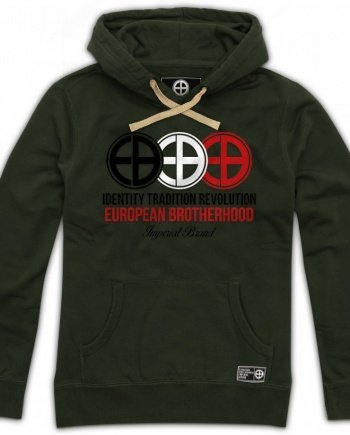 EB Hoodie Identity – Tradition – Revolution – Army Green