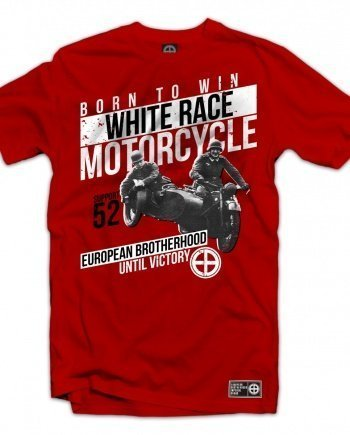 "EB T-Shirt ""White Race Motorcycle"" – Red"