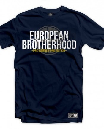"EB T-Shirt ""Pro Border Pro Nation"" – Navy"