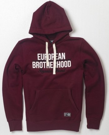 EB Hoodie New Imperial Brand – Burgundy