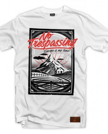 "EB T-Shirt ""No Trespassing"" – White"