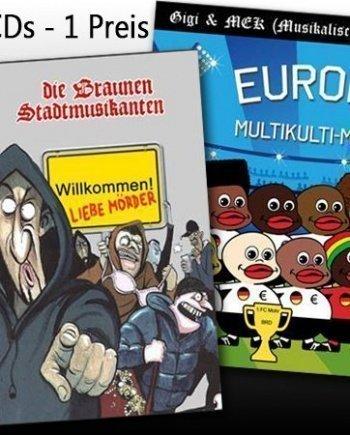 Gigi und die braunen Stadtmusikanten – Willkommen liebe Mörder + Gigi & MEK –  Multikulti-Meister Mini CD Willkommen liebe Mörder