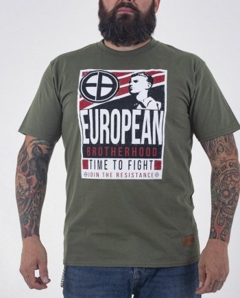 "EB T-Shirt ""Time to Fight"" – Army Green"