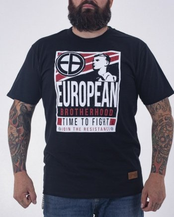 "EB T-Shirt ""Time to Fight"" – Black"