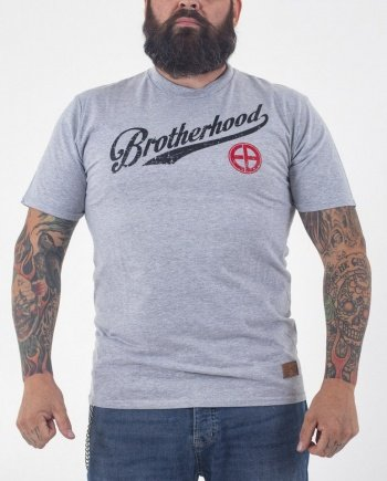"EB T-Shirt ""Brotherhood"" – Grey Melange"