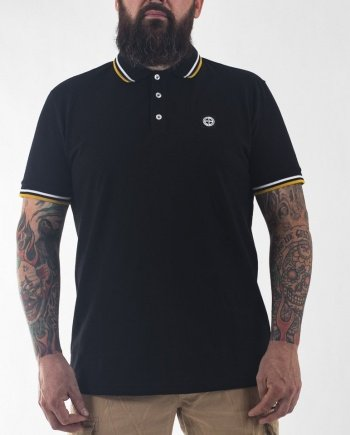 EB Short Sleeve Classic Polo – Black/Yellow