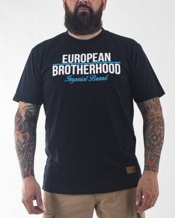 EB T-Shirt New Imperial Brand – Black / Sky Blue