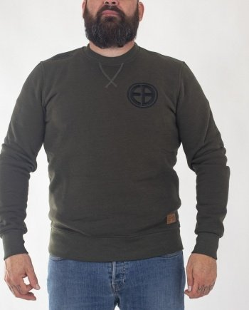"EB Sweatshirt ""Shield"" – Army Green"