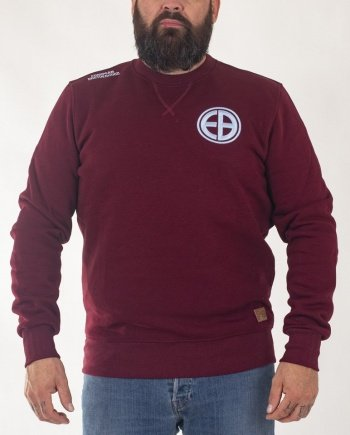 "EB Sweatshirt ""Shield"" – Burgundy"