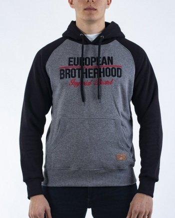 EB Hoodie Bicolor Imperial Brand – Black / Grey