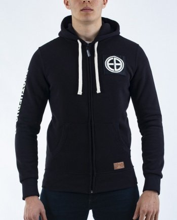 "EB Hooded Zip ""Strength"" – Black"