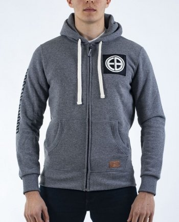 "EB Hooded Zip ""Strength"" – Grey"