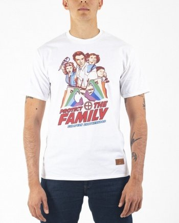 EB T-Shirt Protect the Family – White