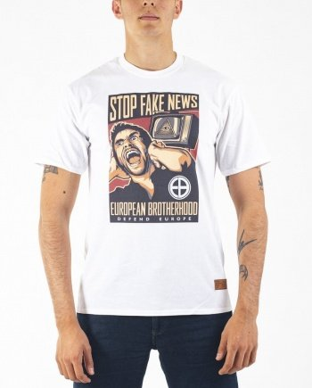 EB T-Shirt Stop Fake News – White